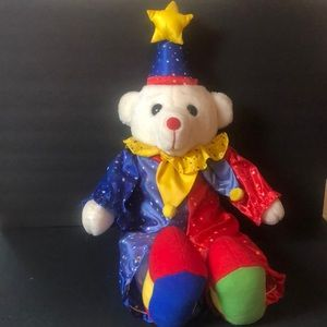 1995 Jumbo big colorful teddy bear jester clown
